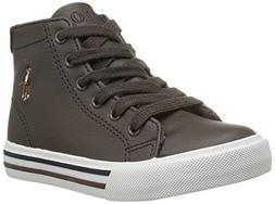Polo Ralph Lauren Kids Boys' Slater MID Sneaker, Chocolate T