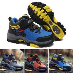 Kids Shoes Boys Hiking sneakers Sports Anti-Slip Shoes Steel