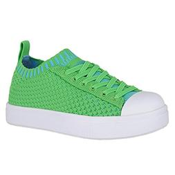 Native Kids Shoes Unisex Jefferson 2.0 Liteknit  Grasshopper