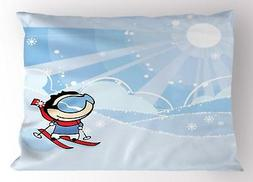 Kids Sports Pillow Sham Decorative Pillowcase 3 Sizes for Be