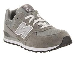 New Balance KL574 Grade Running Shoe ,Grey/Silver,4.5 M US B