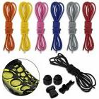 1 Pair Shoes Laces + No Tie Safe Lock Set For Running Sport