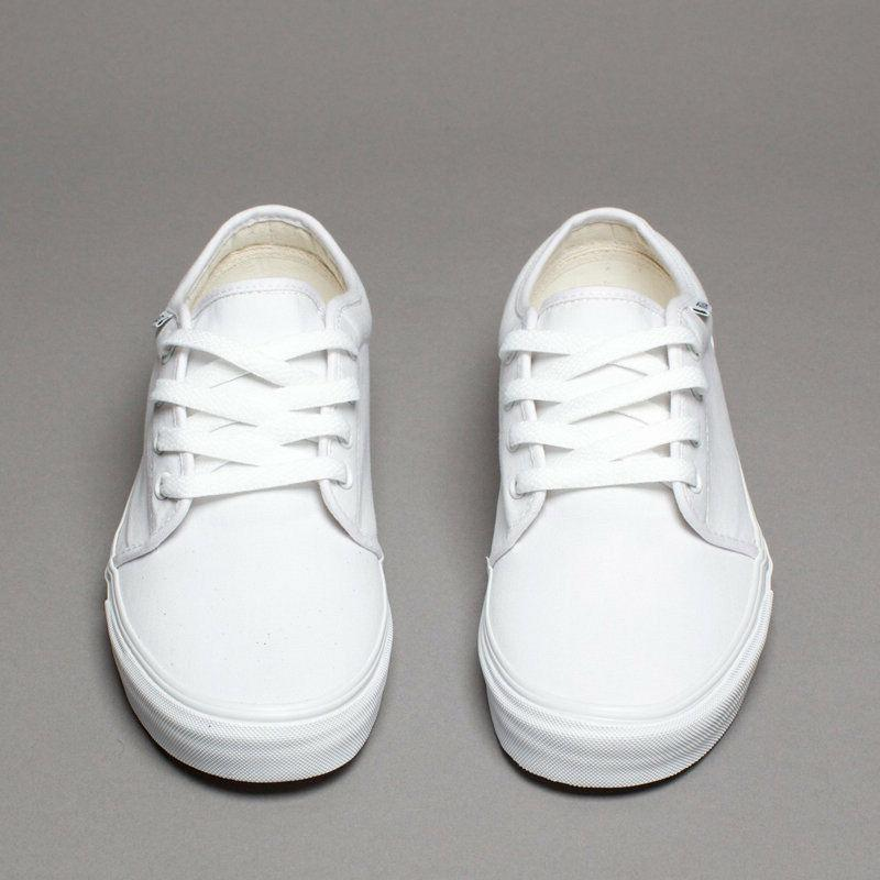 Vans 106 Vulcanized True White Mens Womens Shoes Canvas Snea