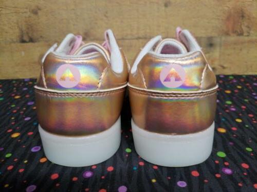 Airwalk 172942 Jazz Rose Gold Sneakers Girls Sz 3.5 NWB