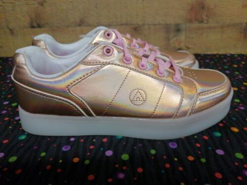 Airwalk Jazz Rose Gold Sneakers Junior Girls NWB