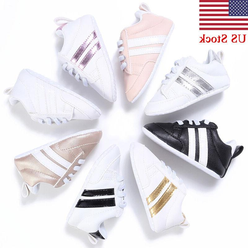 Adorable Sneakers Newborn Baby Crib Shoes Boys Girls Infant