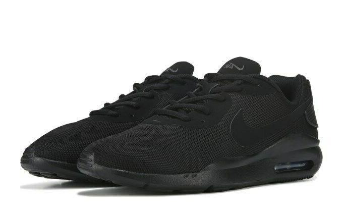 Nike Air Mens Triple Black Sneakers Running NIB