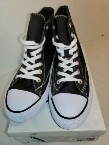 AirWalk Black Canvas Skate Tennis Shoes 7.5
