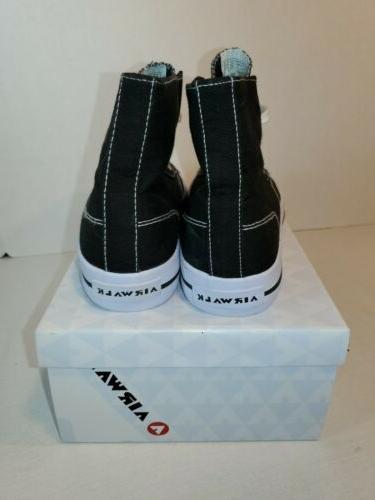 AirWalk Black Legacee high Canvas Sneakers Tennis Shoes