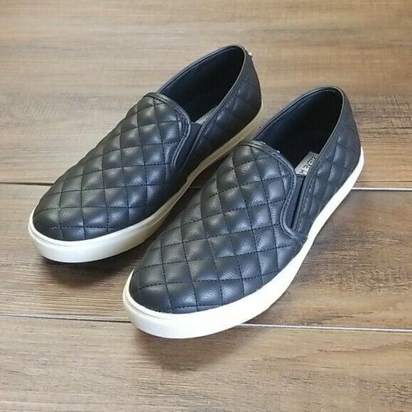 Steve Madden Black Women's Shoes Ecentric Q Platform Sneaker
