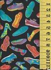 Bright Colors on Black Fashion Sneakers Shoes ~ Quilt Purses