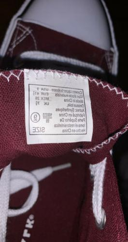 BRAND AIRWALK Burgundy Canvas LowTop Sneakers