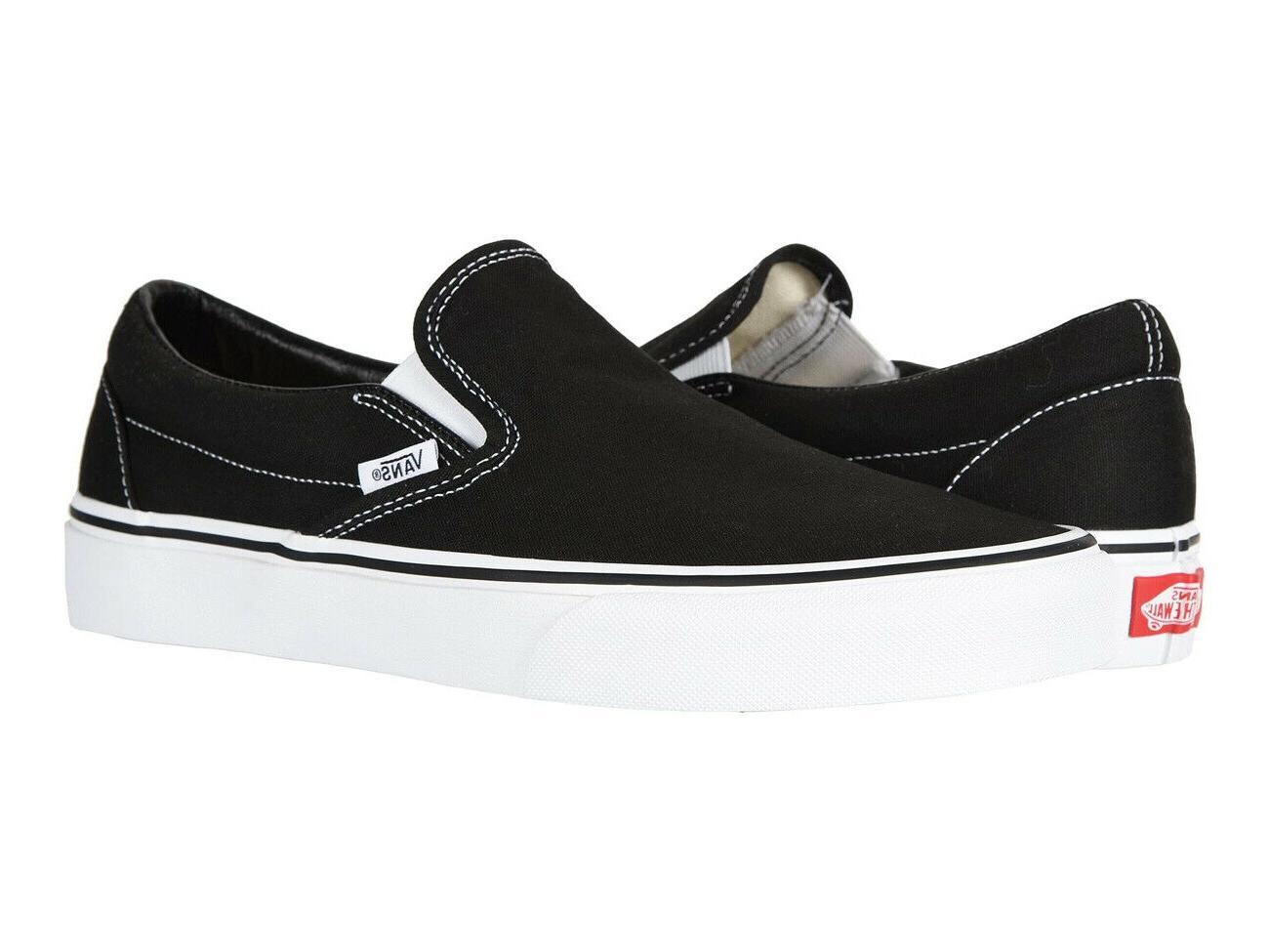 classic slip on black white unisex sneakers
