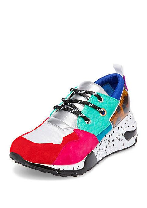 cliff sneakers multi colored animal print