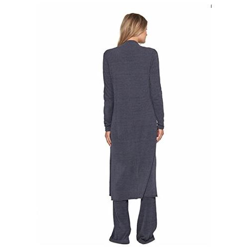 Barefoot Dreams CozyChic Lite Women's Sleeve, Open Front Maxi Two Blue