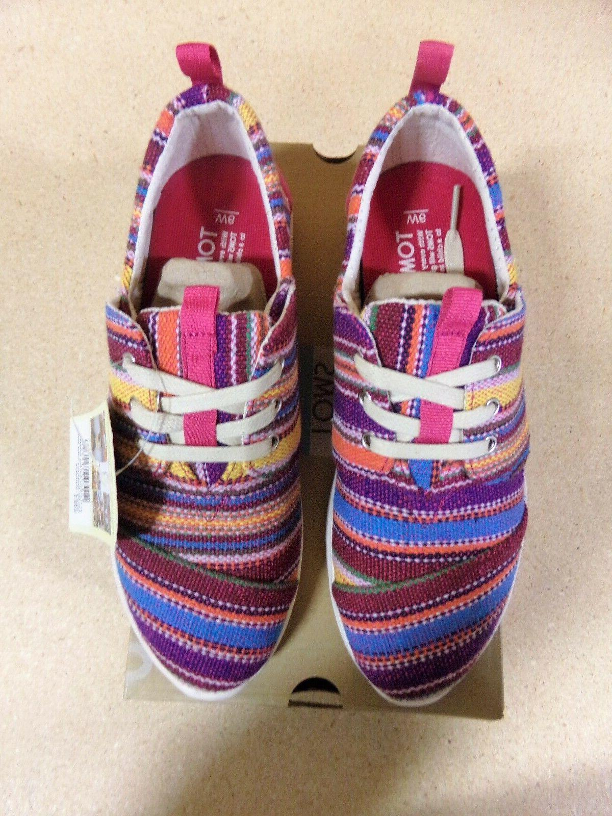 Toms Womens Raspberry Tribal Woven Sneakers Size 5,6,6.5,7,7.5