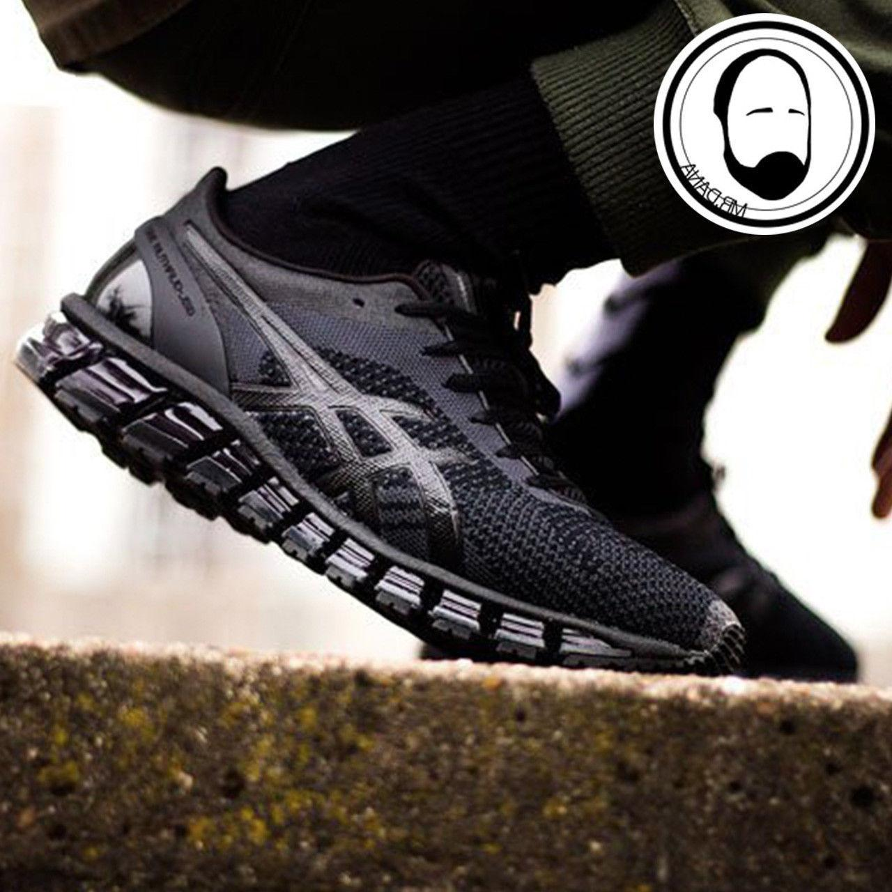 Asics Gel-Quantum 360 Knit Black Men Running Shoes Sneakers