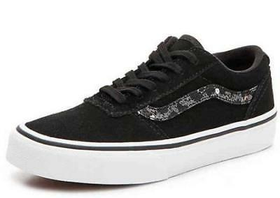 VANS Maddie Kids Sneakers Black+White Cheetah Athletic Skate