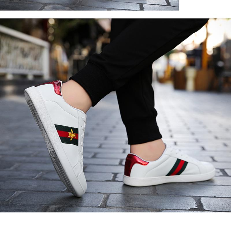 Hot! Men's Embroidery Casual Sneakers Breathable Walking Shoes