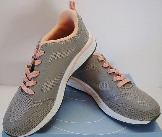 Easy Spirit Hugs Sneakers Athletic Shoes Gray Peach Womens N