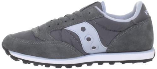 Saucony Originals Women's Jazz Low Fashion Sneaker,Grey/Blue,8.5 M