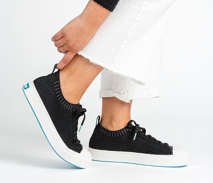 NATIVE Liteknit Men's Shoes 9 Black/White Retail $75
