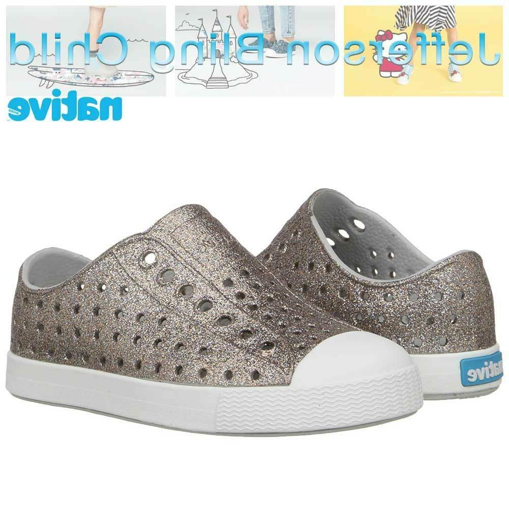 Native kids Jefferson Girls Bling Sneakers Slip-on Shoes Chi