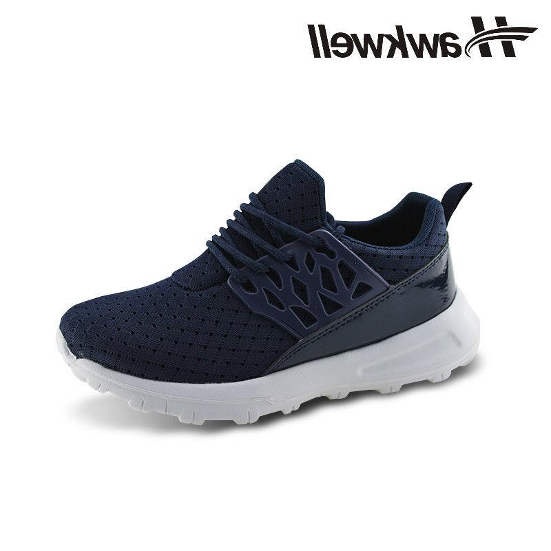 Hawkwell Kids Lace-up Running Shoes Boys Girls Khaki Outdoor