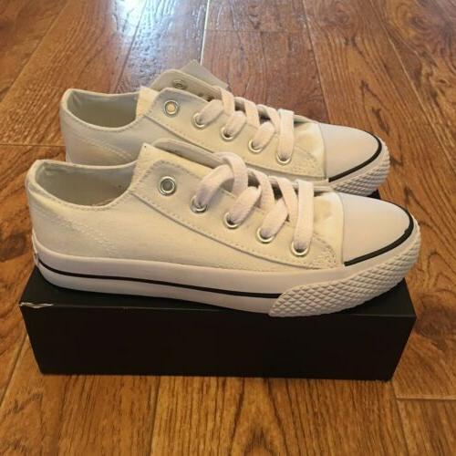 kids white sneakers little girls size 11