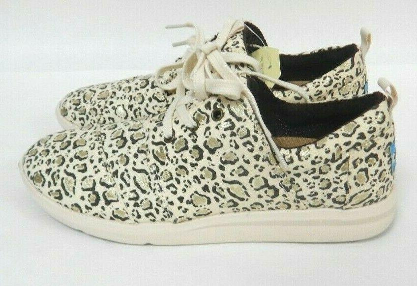 Toms Lace Up Del With Gold Foil Sneakers