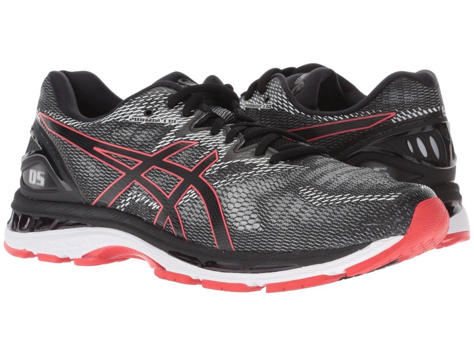Asics - Men Gel Nimbus 20 Running Sneakers, Black/Red Alert