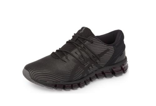 Asics - Men Gel Quantum 360 4 Running Sneakers, Dark Grey/Bl