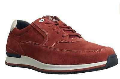 Rockport Men's Crafted Casual Sport Fashion Sneaker,Red/Whit