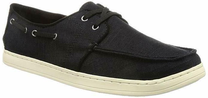 men s culver black washed linen sneakers