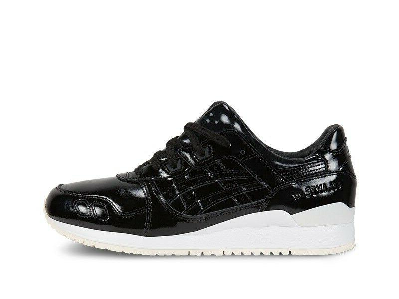 Men's Asics Gel Lyte III Black Patent Leather Athletic Fashi