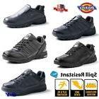 Men's Leather Black Slip Spill Oil - RESISTANT Work Shoes Sn