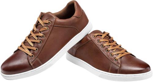JOUSEN Men's Leather for Men 10,Red