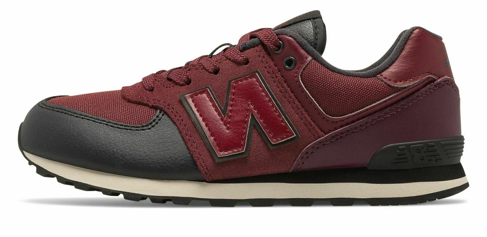 New Balance Men's ML574EGB Classic Casual Sneakers, Burgundy