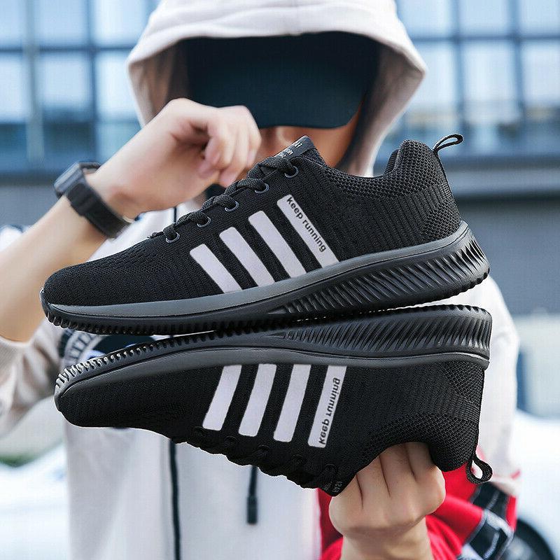 Men's Sneakers Running Tennis Athletic Walking Shoes Gym