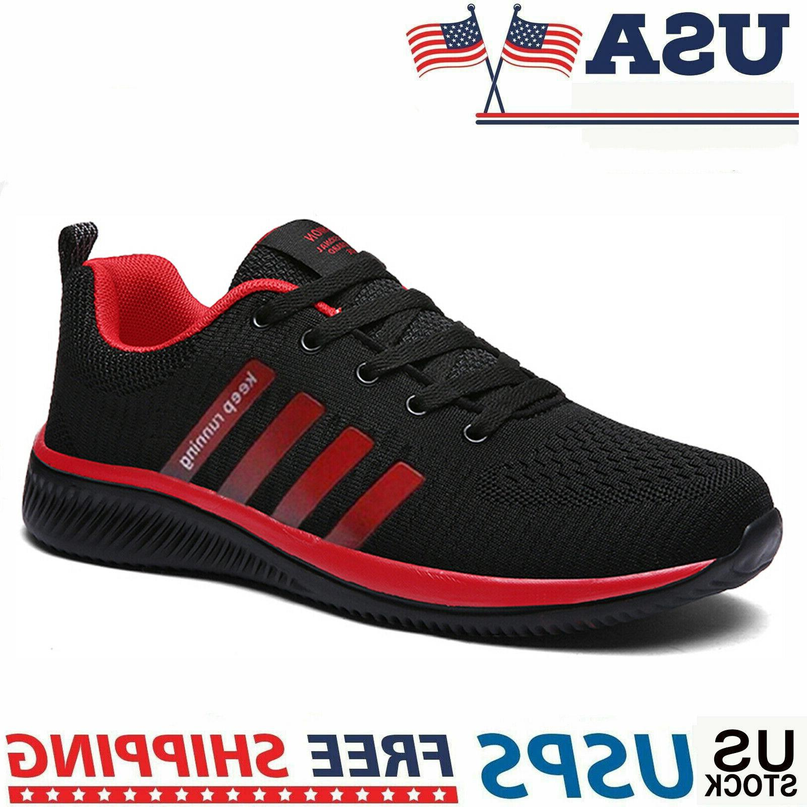 men s sneakers breathable running tennis athletic