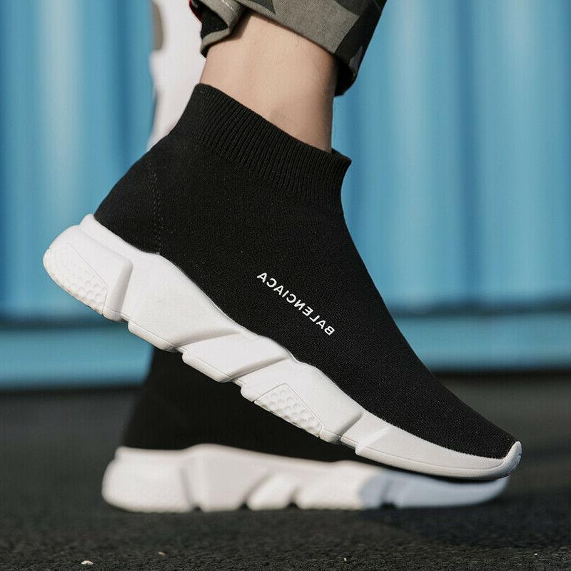 Mens Sneakers Sock Running Knit Gym 11 12