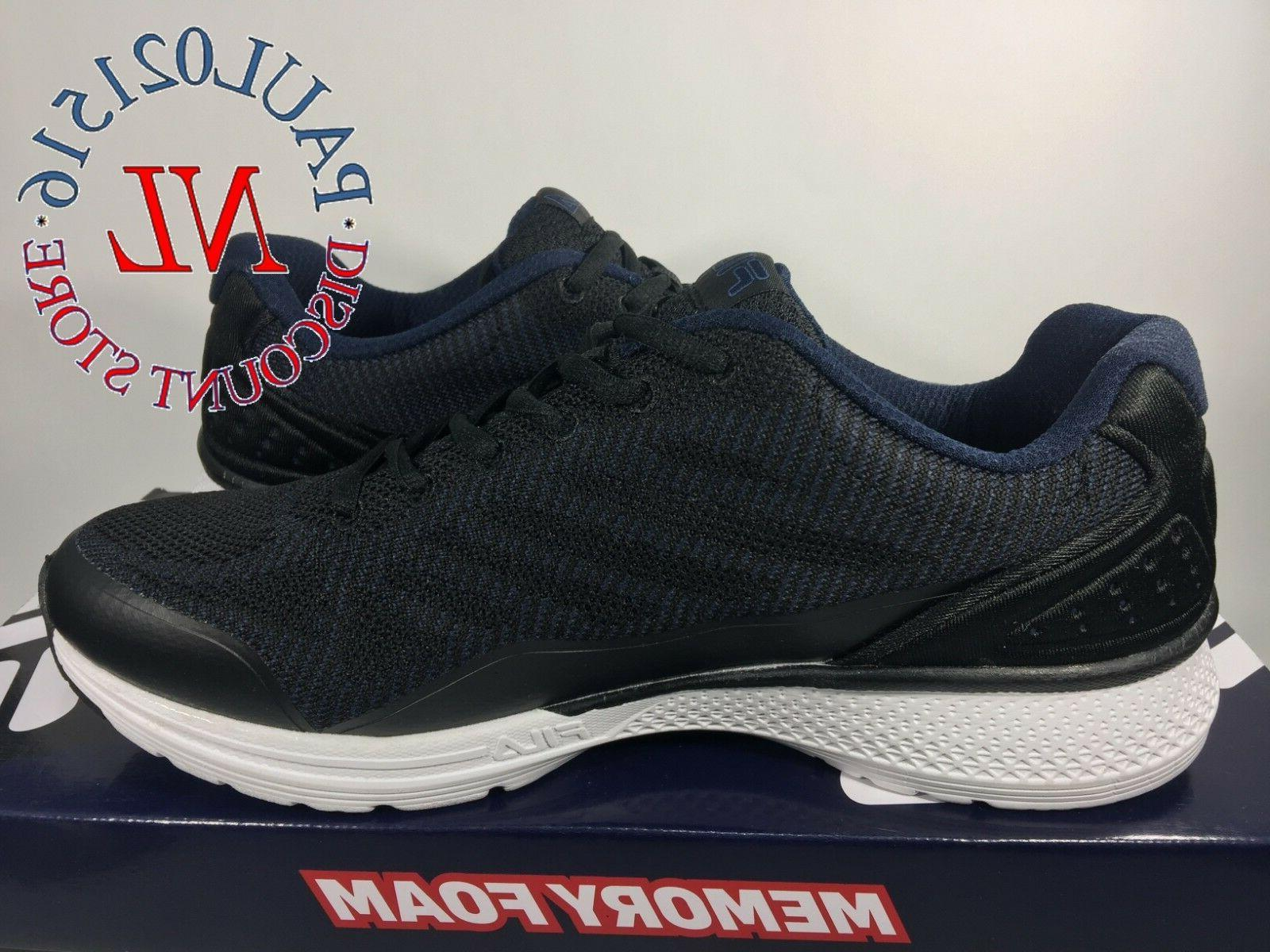 FILA Men's Startup Memory Foam ~ Black ~ Pick Size !