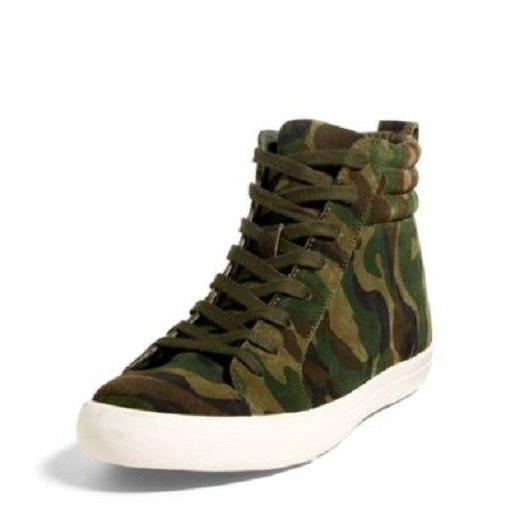 Polo Ralph Lauren Mens Gaven Retro Camouflage High Top Sneak