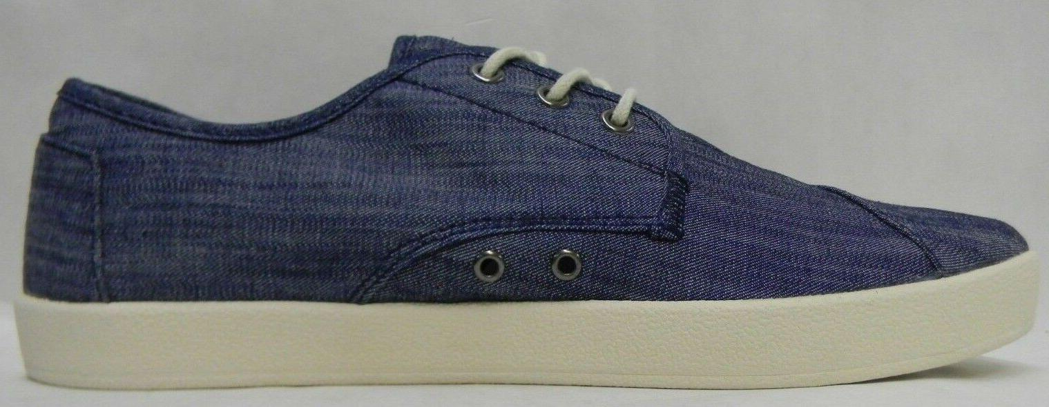 Toms Mens Sneakers Canvas Blue Chambray Choose Size in Box