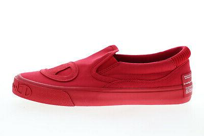 Champion Metro Slip CP100568M Mens Red Slip On Sneakers