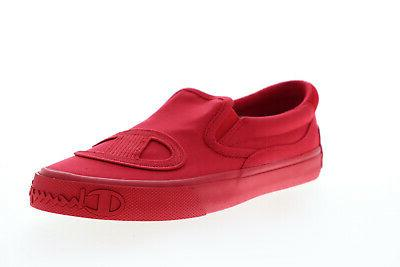 metro slip on cp100568m mens red canvas