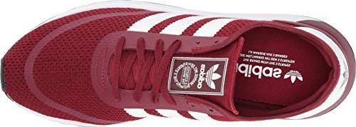 adidas Sneaker Running Shoe, Collegiate Burgundy/White/Black,