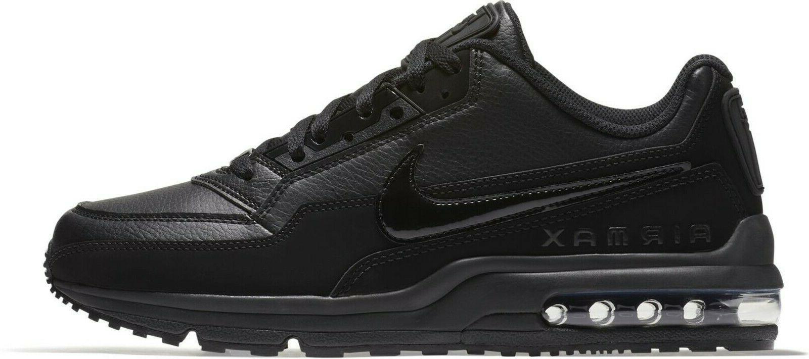 New NIKE Air Max LTD 3 Leather sneakers triple black