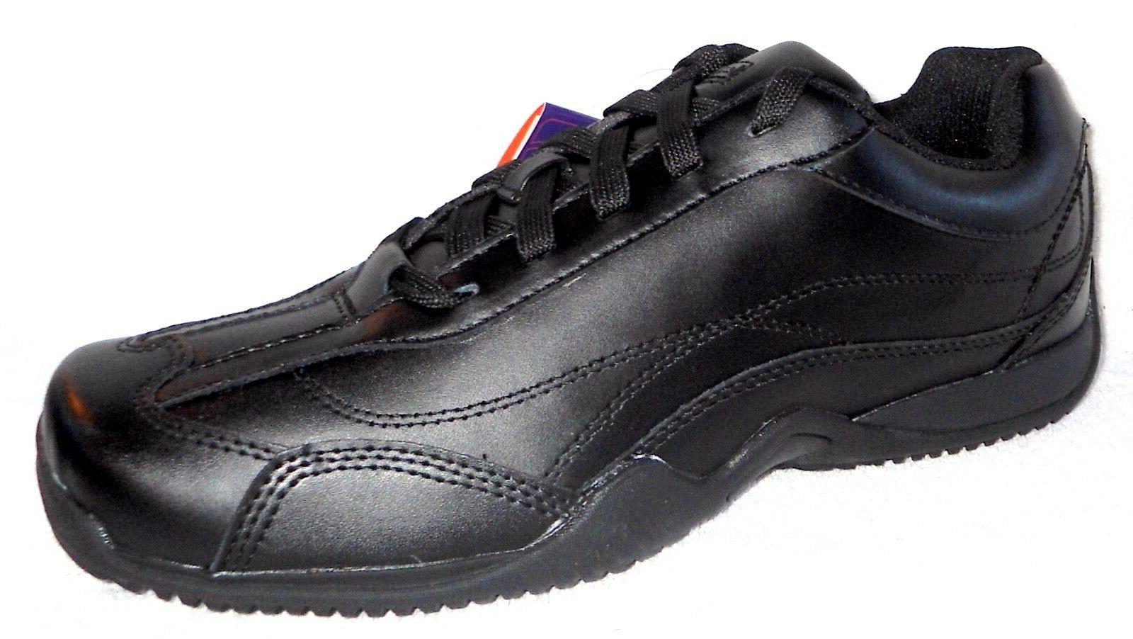 new conveyor slip resistant black leather sneakers