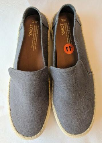 NEW Grayish Blue Canvas Shoes On Women's 11